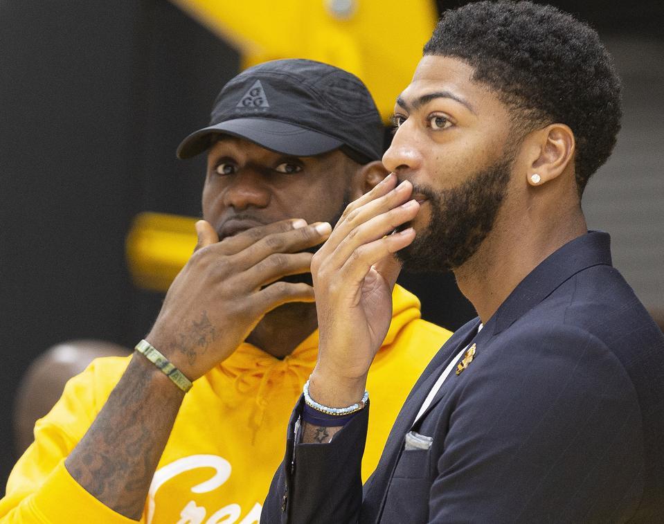 Lakers Davis Basketball NBA
