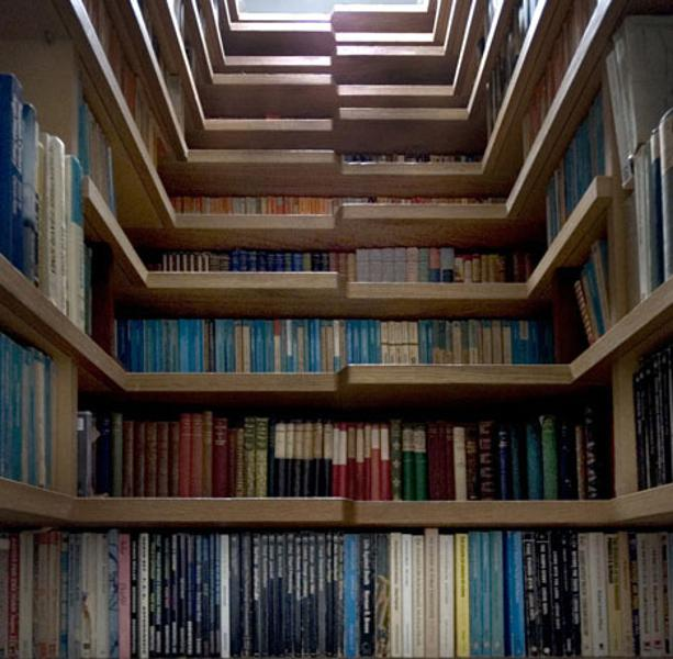 Best Apartment Hunting Sites: Bookcase Staircase, England