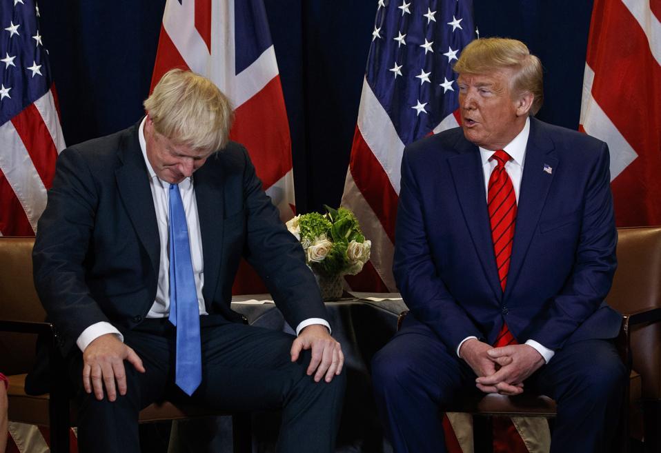 APTOPIX Trump Johnson Brexit