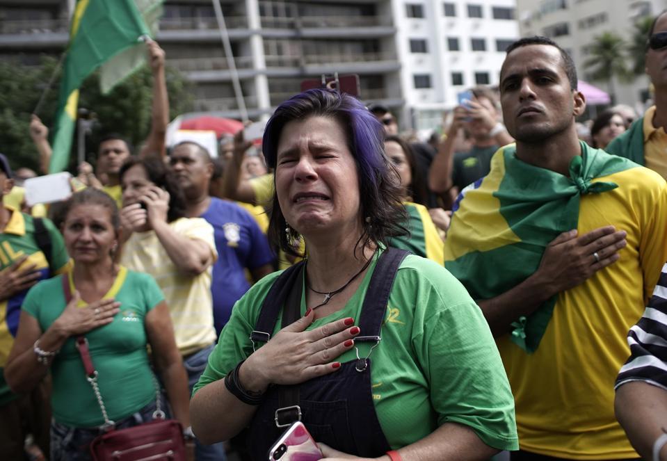 APTOPIX Brazil Backing Bolsonaro