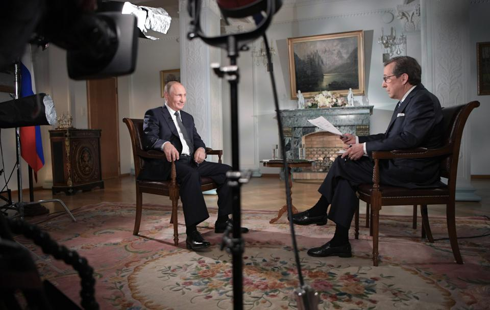 Russian President Putin gives interview to Fox News Channel