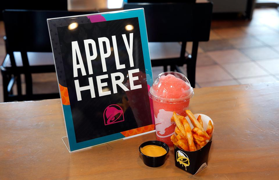 Taco Bell has announced that later this year it will begin testing a $100,000 salary for restaurant general managers at select locations. This and other hiring tactics, like its Hiring Parties, are being used to achieve the chain's 2022 goal to hire 100,000 new U.S. workers.