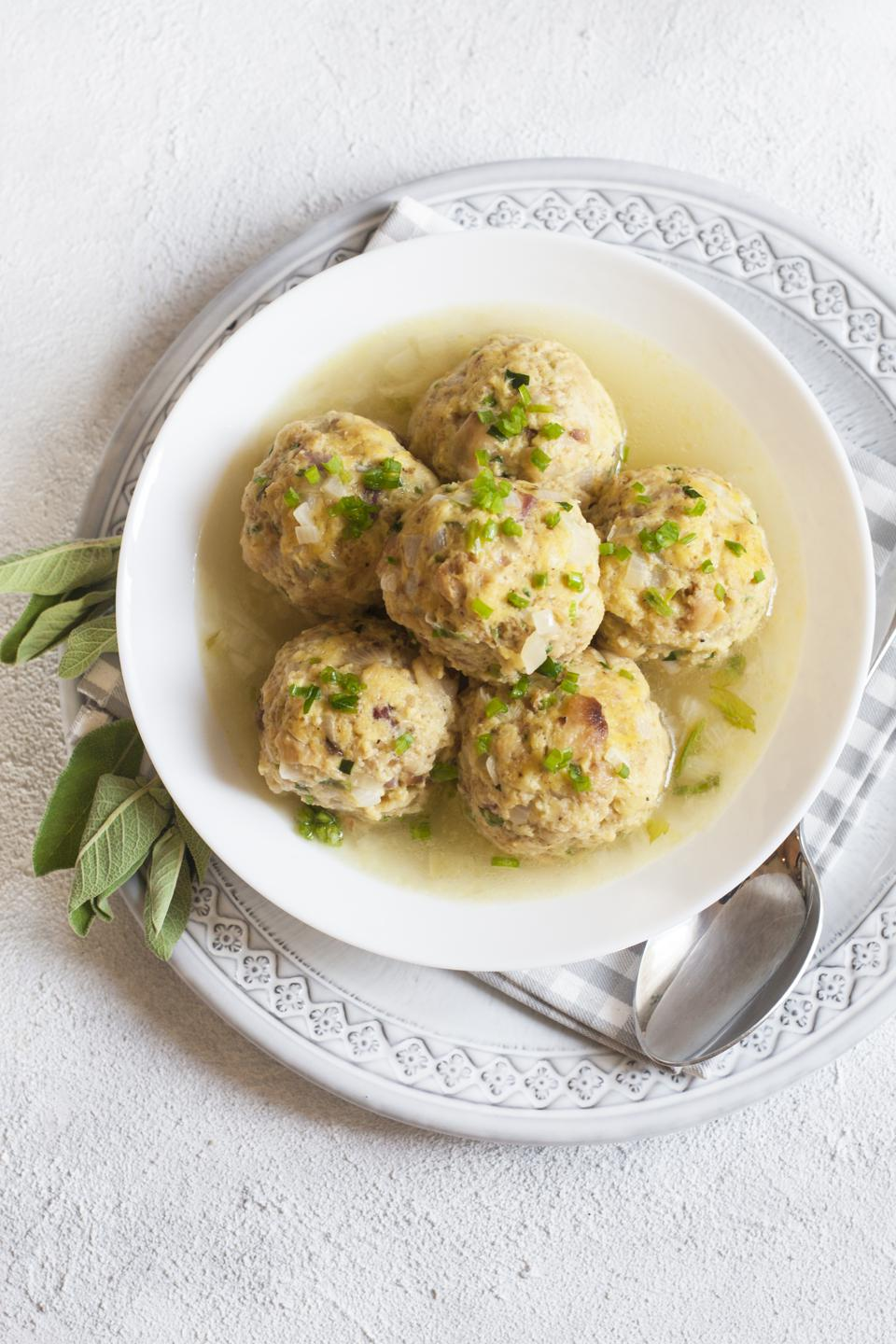 Homemade Canederli or Knödel typical for Alto Adige, Germany, Austria.