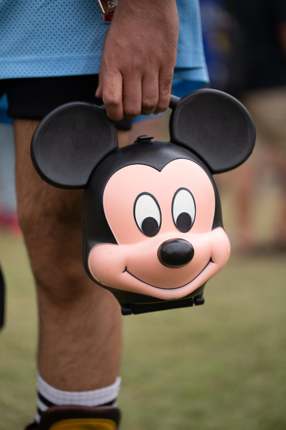 Mickey Mouse goes to Pitchfork Music Festival.