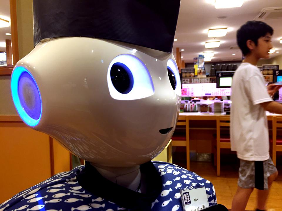 Pepper, the humanoid robot, in Tokyo. Photo by Hitoshi Yamada/NurPhoto via Getty Images
