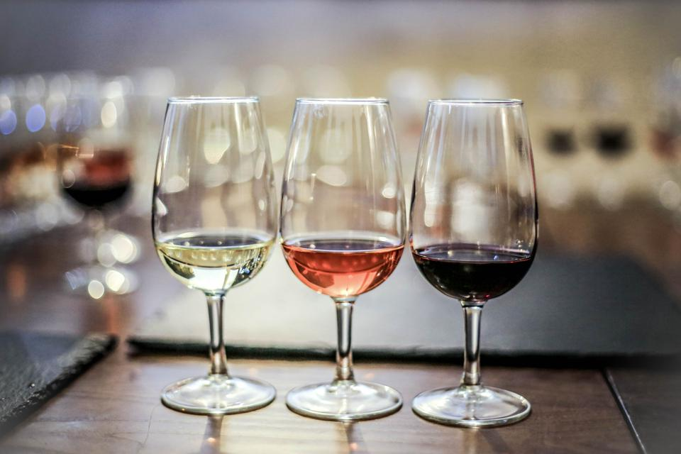 Red, rosé and white wine