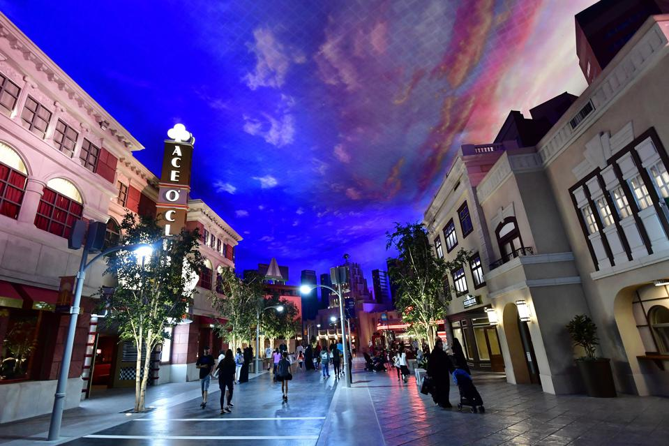 Warner Bros. World Abu Dhabi isn't owned by the studio it is named after (GIUSEPPE CACACE/AFP/Getty Images)