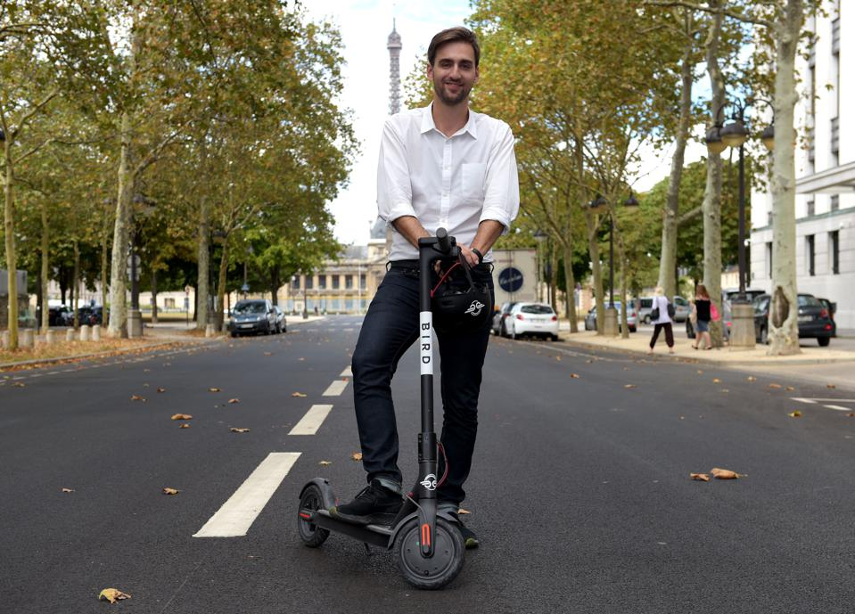 Head of France of US electric scooter-sharing service Bird, Kenneth Schlenker.