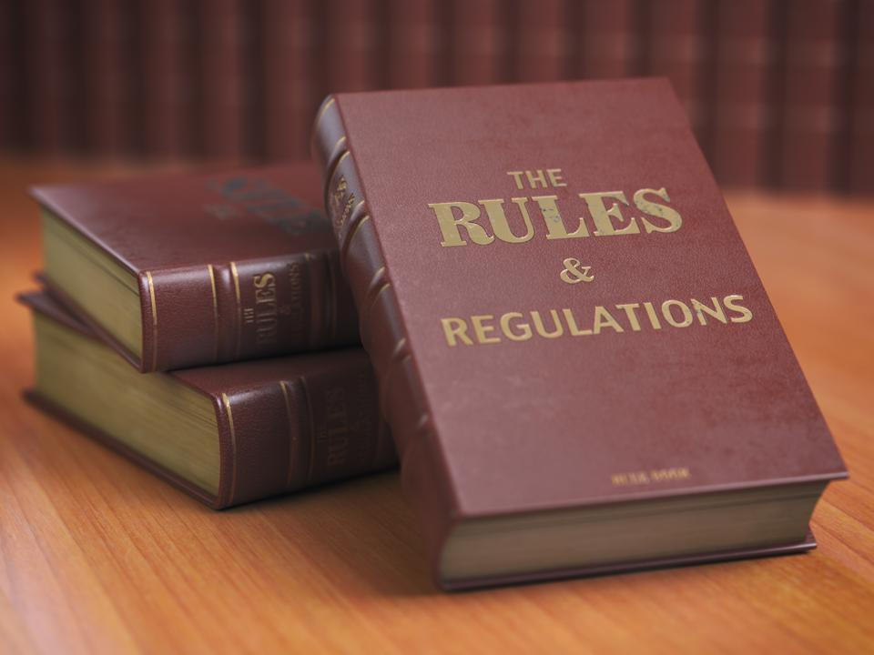 Image of books titled, ″The Rules & Regulations.″