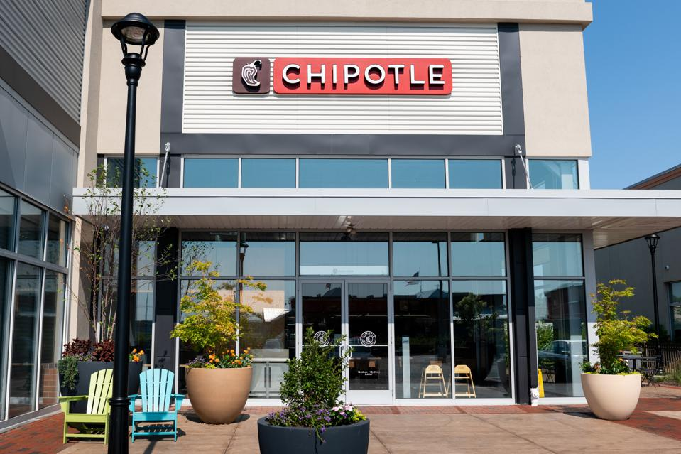 Chipotle restaurant in Teterboro, New Jersey...