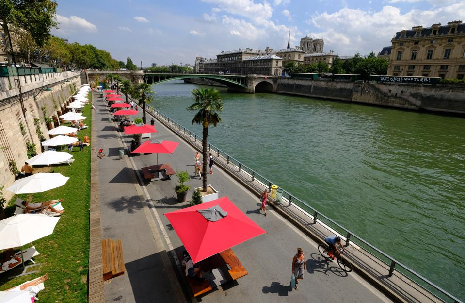 Paris artificial beach