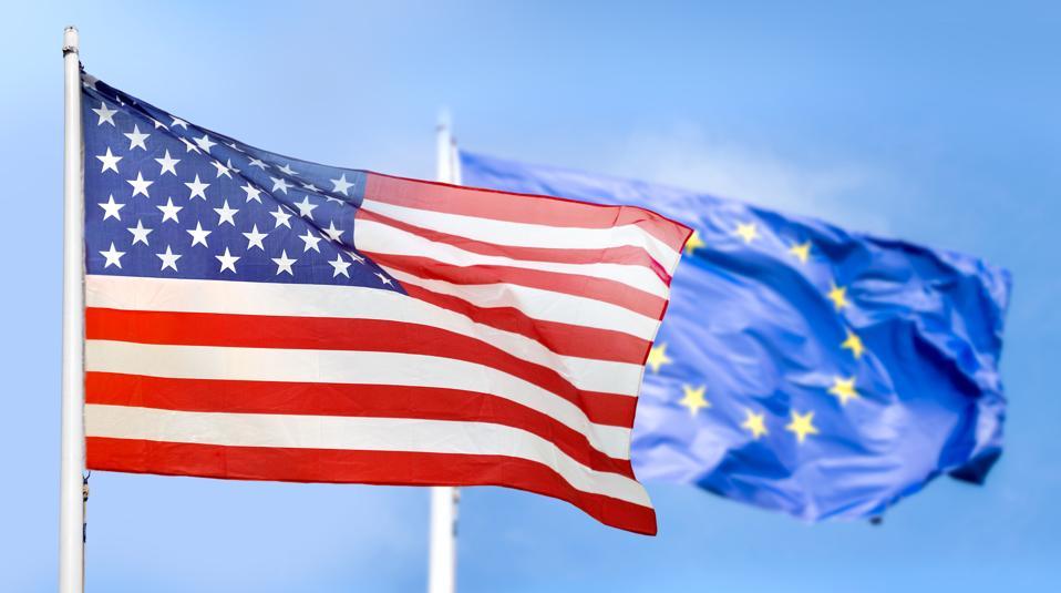 Europe and USA flag