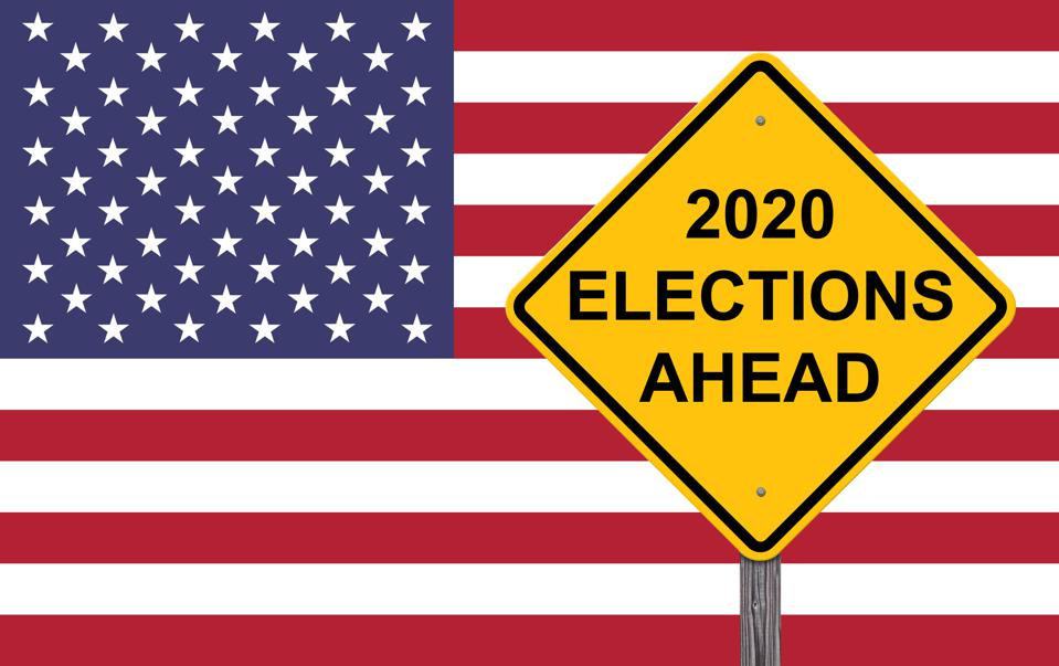 2020 Elections Ahead Caution Sign