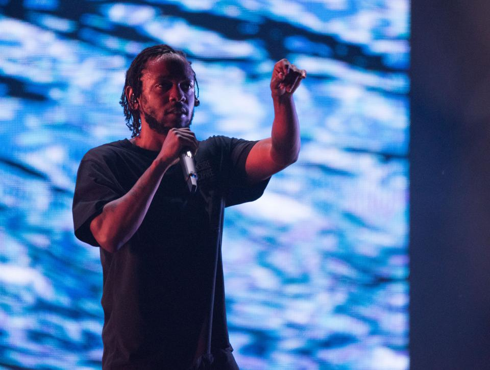 Kendrick Lamar performs at the Sziget Festival in 2018.
