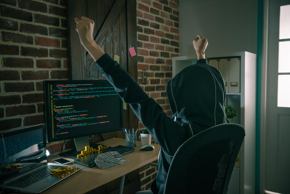 professional female hacker
