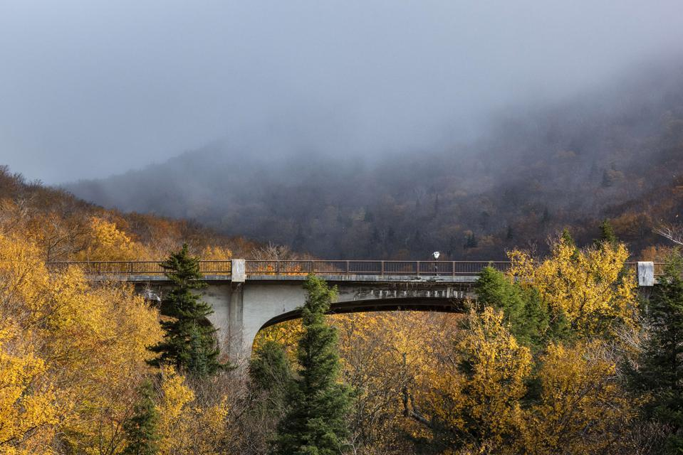 Franconia Notch State Park in the White Mountain National...
