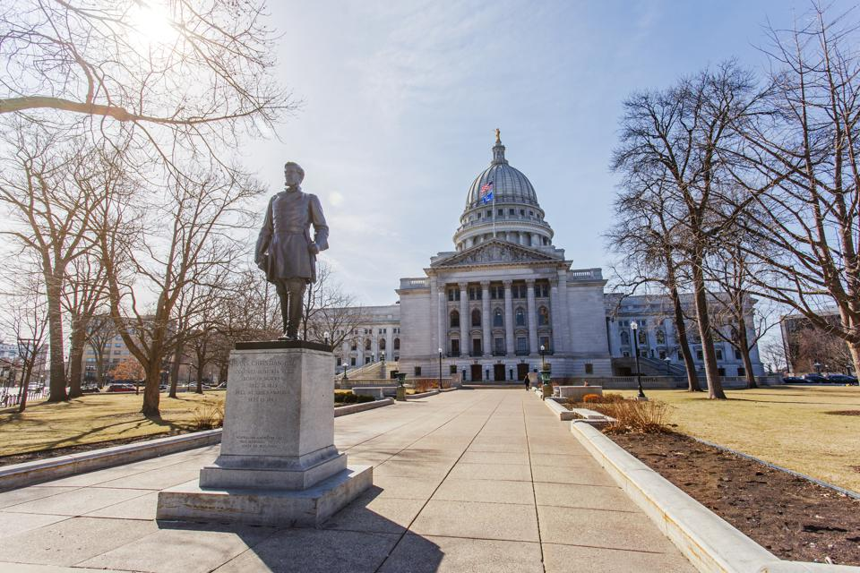 Statue of Hans Christian Heg, Wisconsin state capitol building