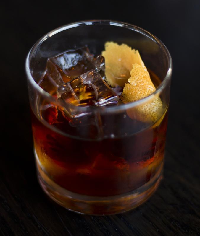 Rye Whiskey on the Rocks
