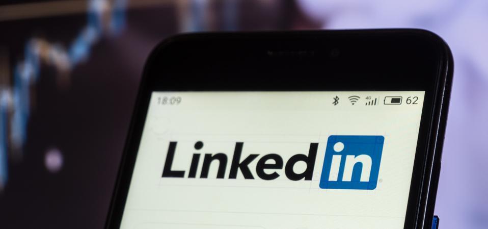 Linkedin social networking website smartphone