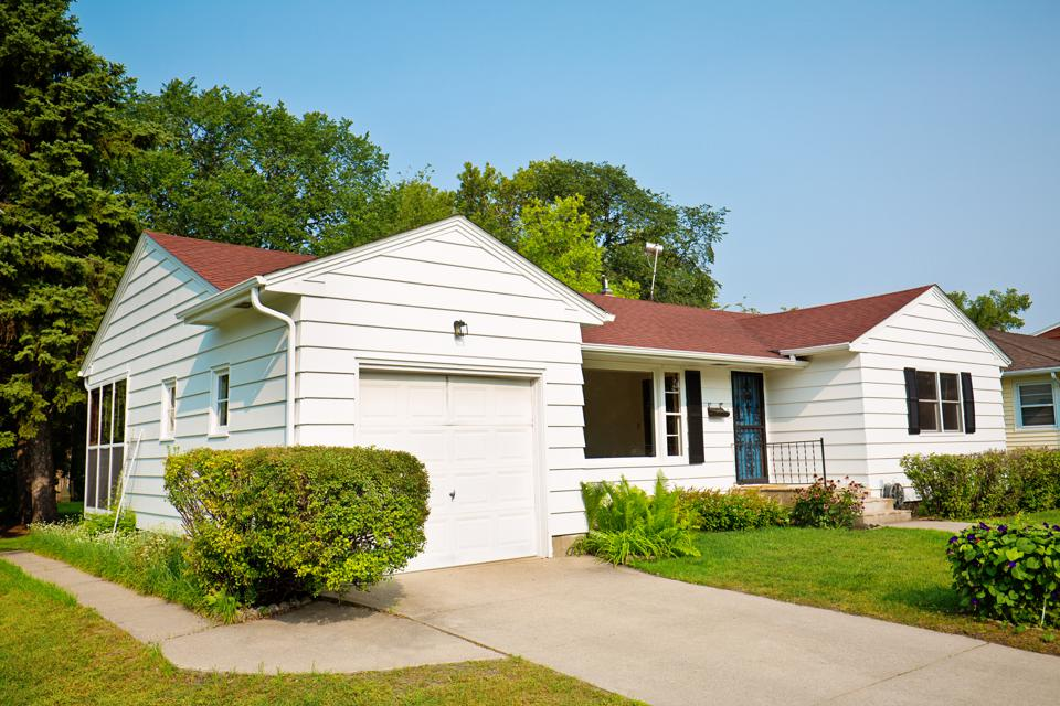 1950s United States Mid-Century Modern Bungalow House Exterior