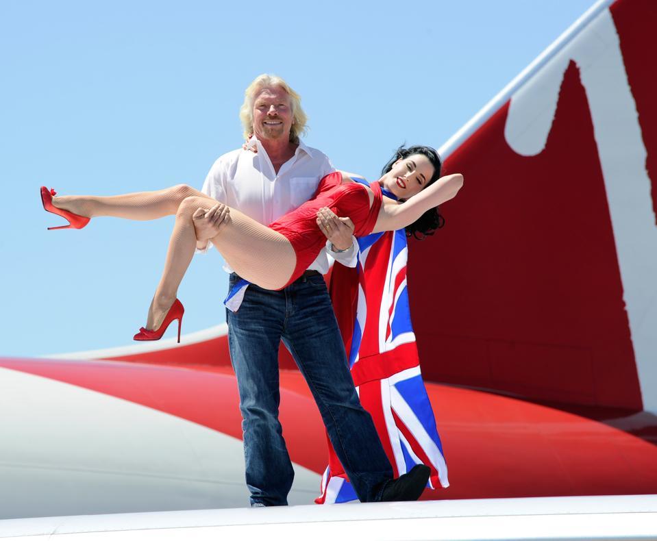 Richard Branson & Virgin Atlantic Celebrate 10 Years Of Flying To Las Vegas