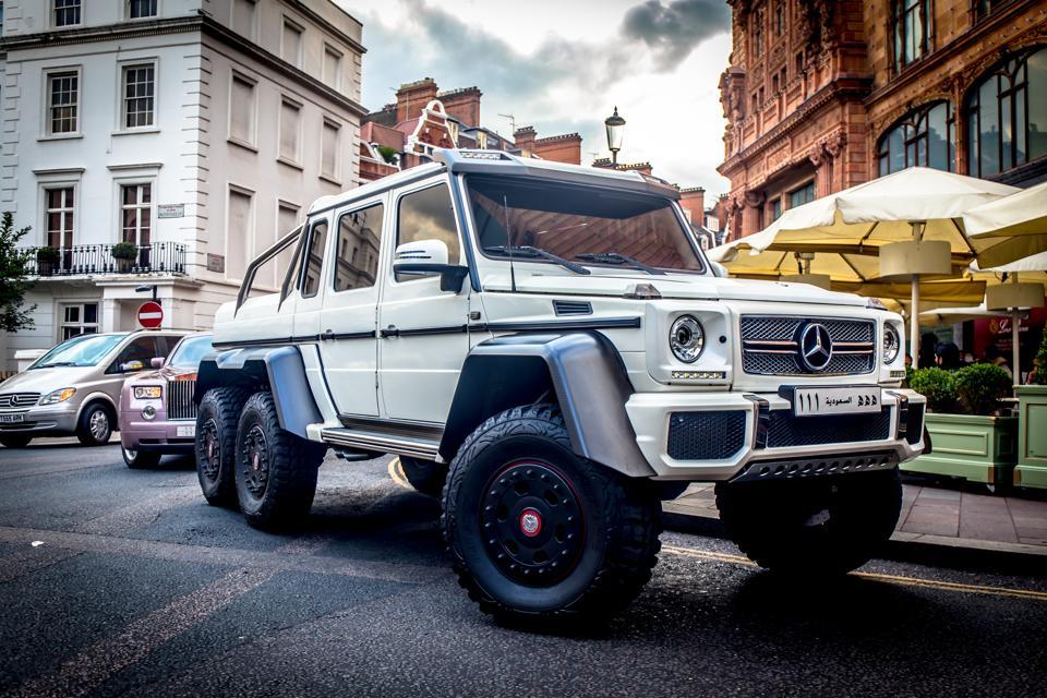 Mercedes AMG 6X6 Harrods luxury store in London