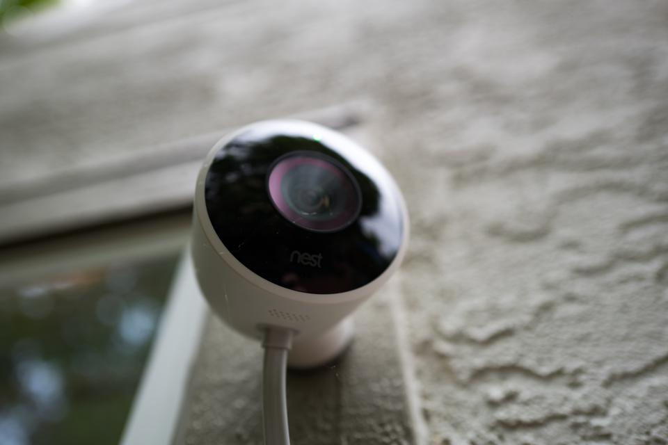 A Nest camera outdoors. Federal agents in the U.S. demanded the Google-owned manufacturer hand over data from its devices. Other governments have done the same.