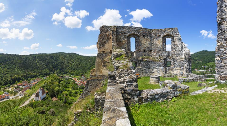 Austria, Lower Austria, Wachau, Kremstal, Senftenberg, Castle ruin Senftenberg