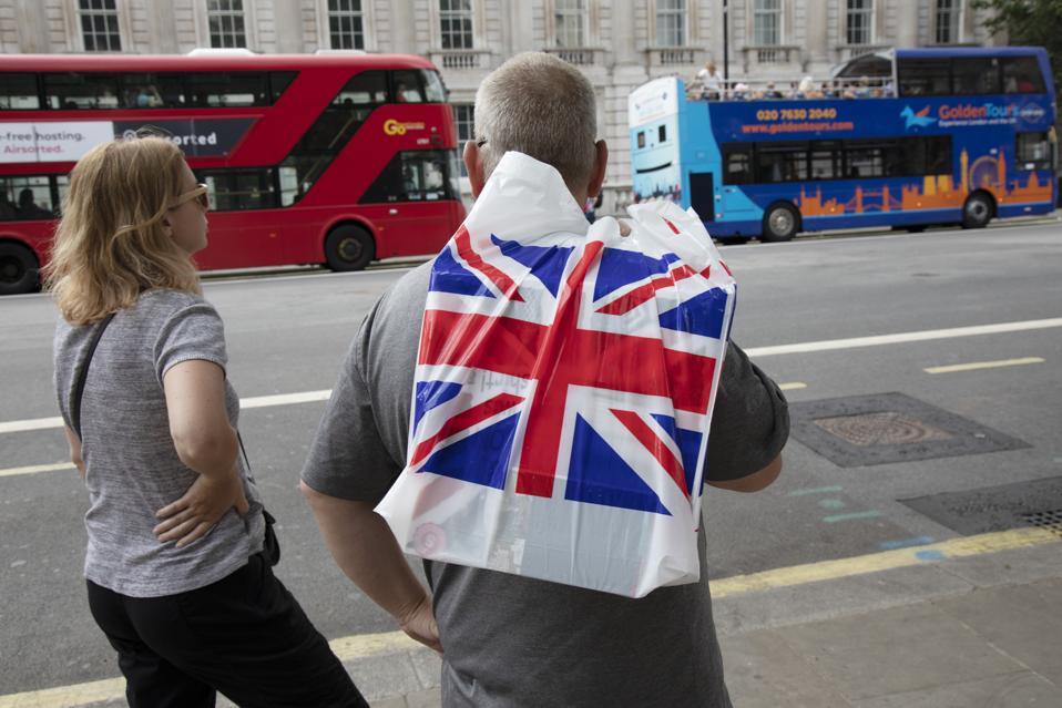 Union Jack Flag Carrier Bag In London