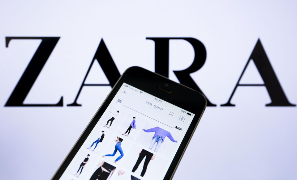 Mobile applications of Inditex Group