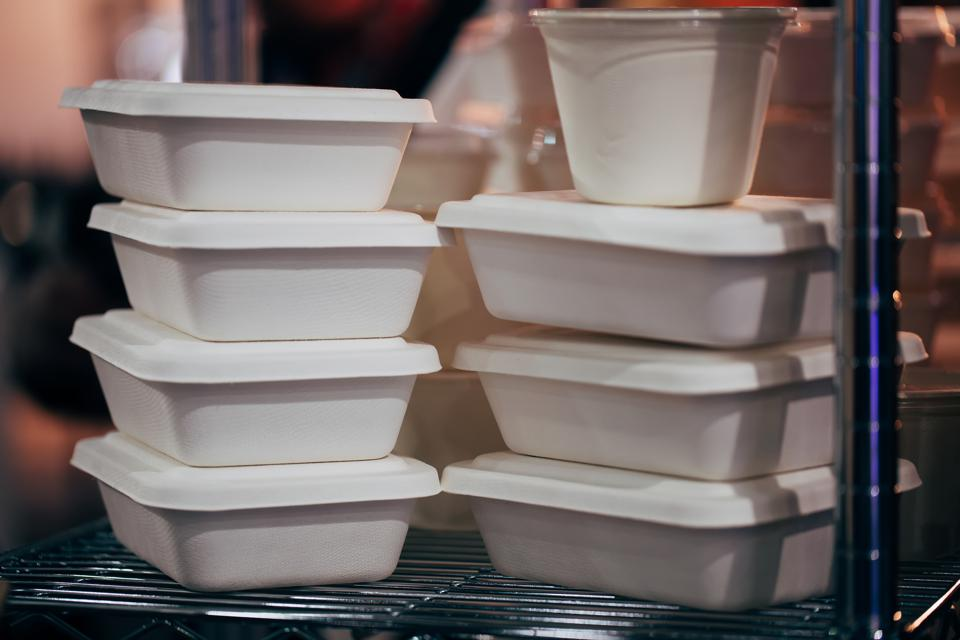 Food containers.