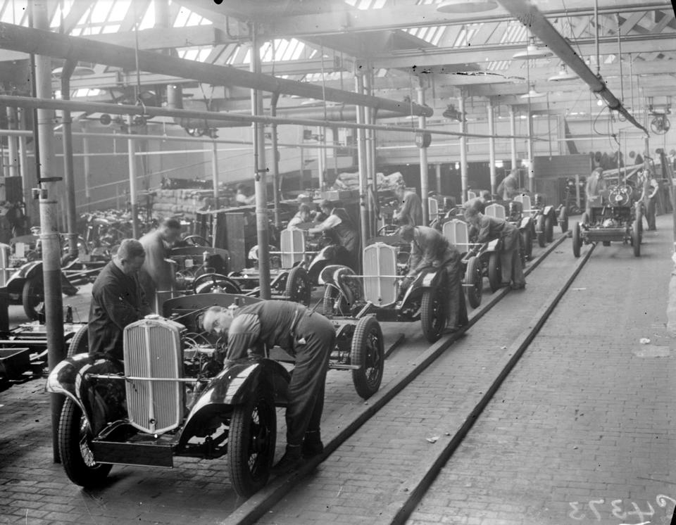 'The Manufacture of Triumph Cars at Triumph Works, Coventry', 1933.