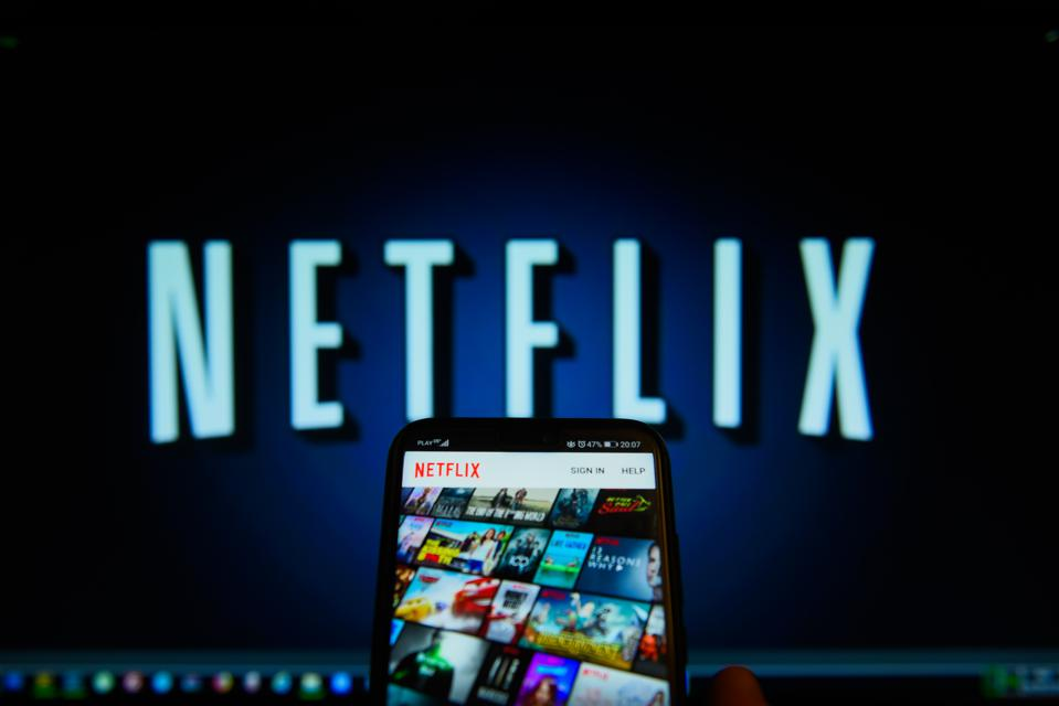 Netflix app is seen on an android mobile phone