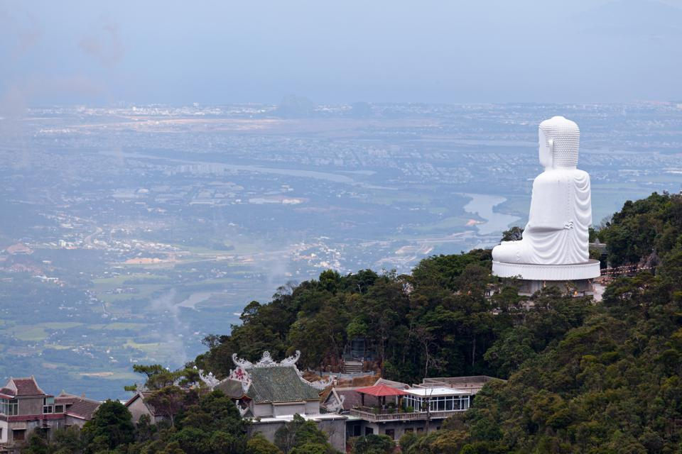 Buddha statue at Linh Ung Pagoda in the Ba Na Hills