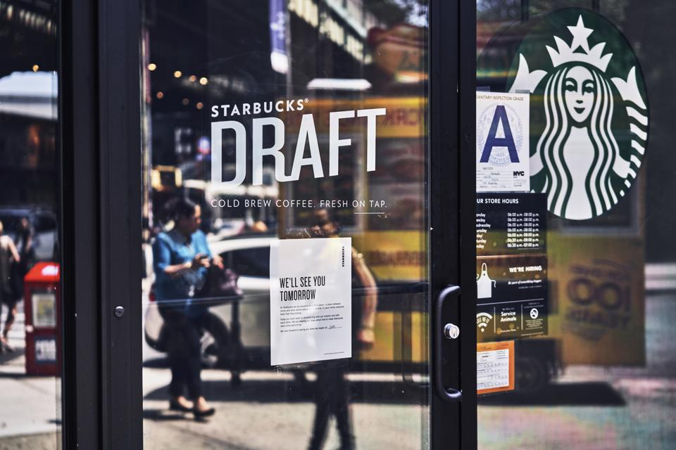 Starbucks around the country closed today for ″anti-bias training″ after 2 black men were arrested at a Philadelphia Starbucks for holding a meeting and sitting down before ordering.