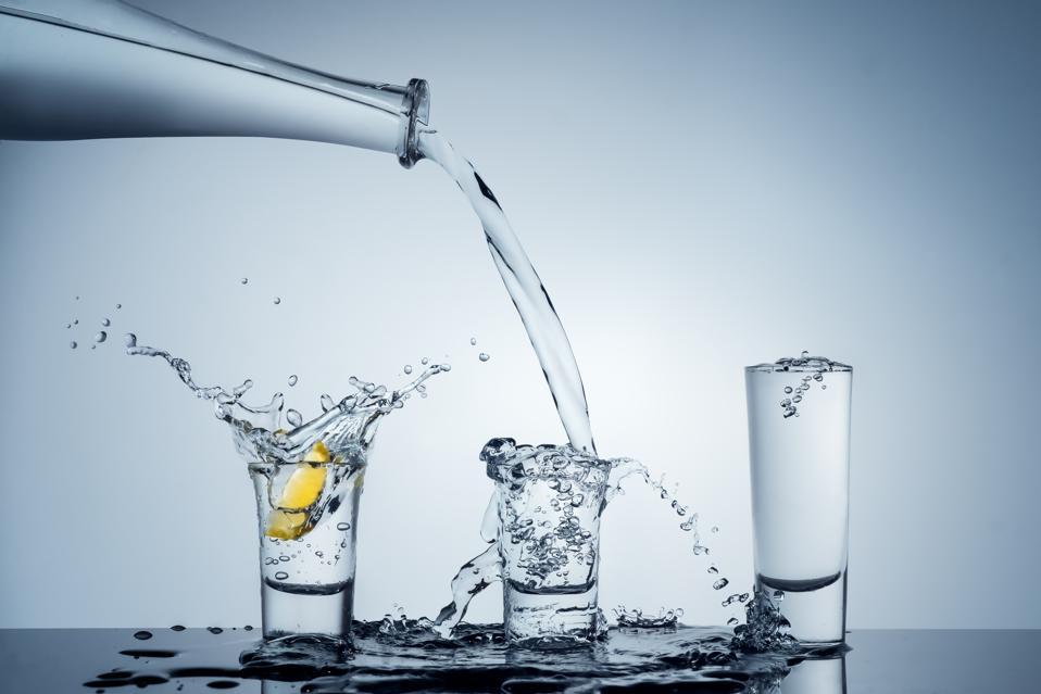 Shot glass splash