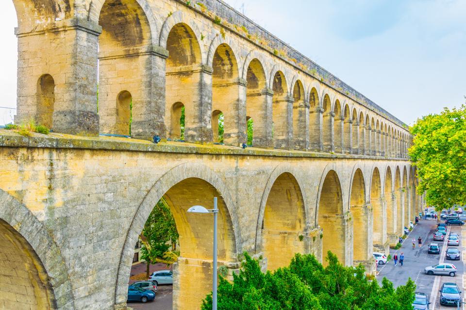Saint Clement aqueduct in Montpellier, France