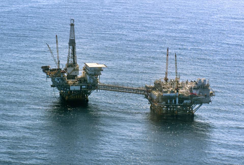 Offshore oil platform in California