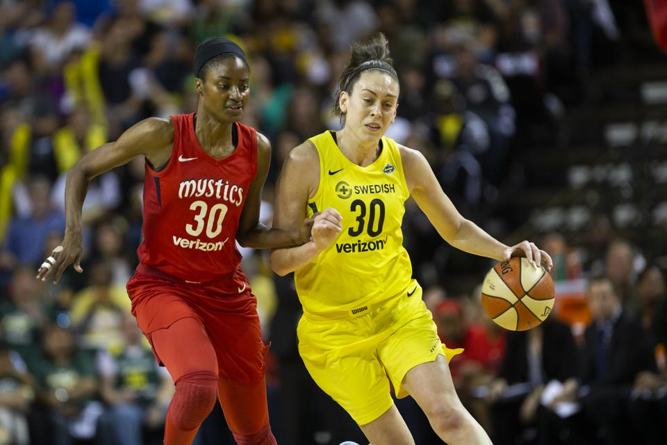 Breanna Stewart of the Seattle Storm during Game 2 of the WNBA Finals on September 9.