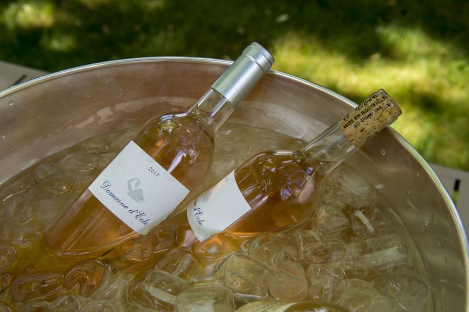 Wine tasting in the garden at La Bastide de Moustiers, a...