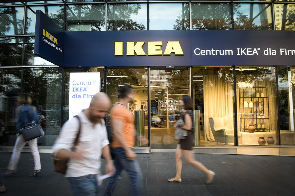 IKEA store and pedestrians