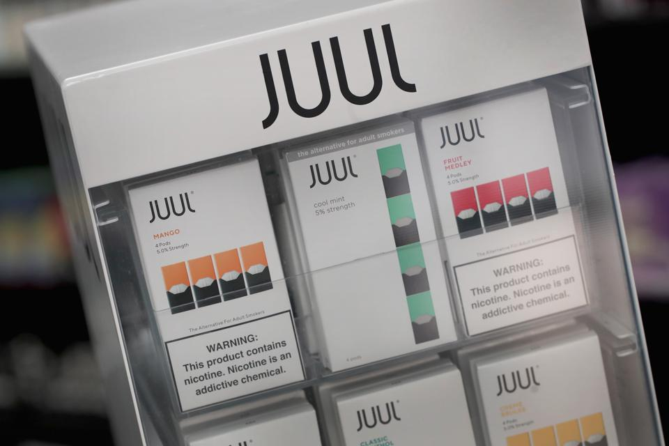 Mint pods reportedly make up 70% of Juul's U.S. sales.