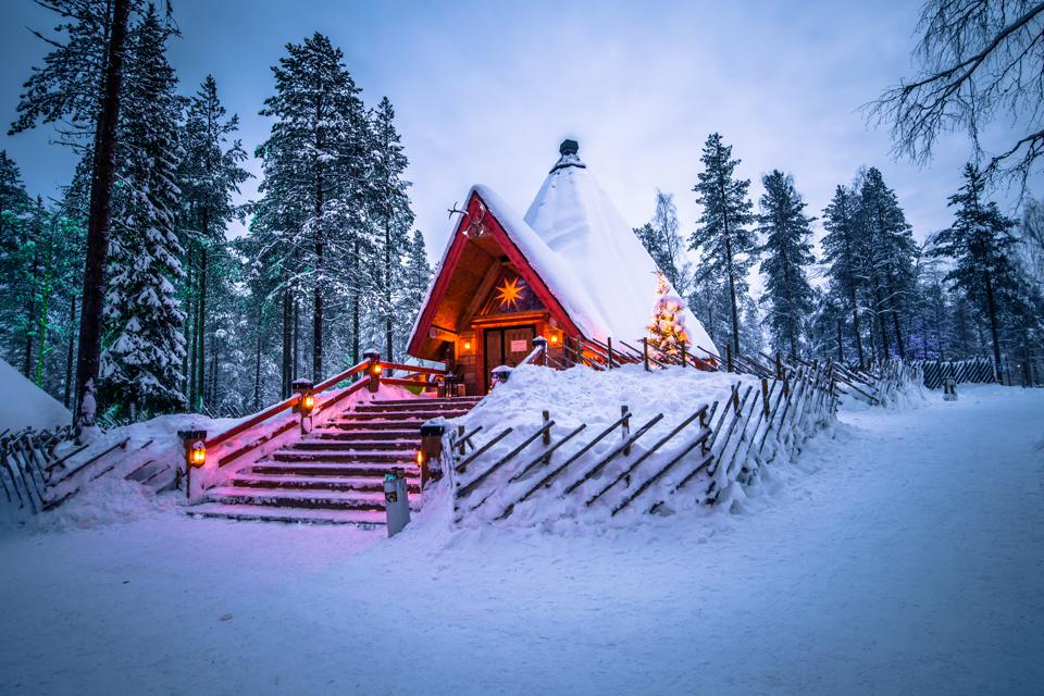 Part of the existing Santa Claus Village in Rovaniemi, Finland.