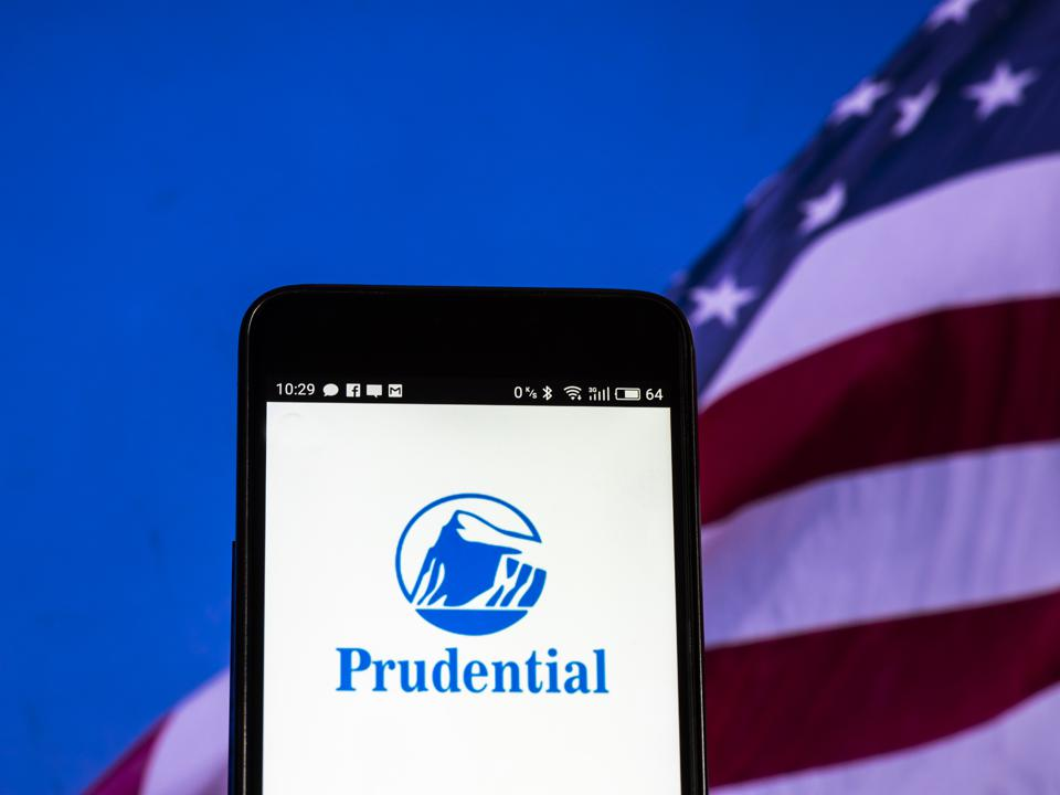 Prudential Financial, Inc. logo seen displayed on a smart