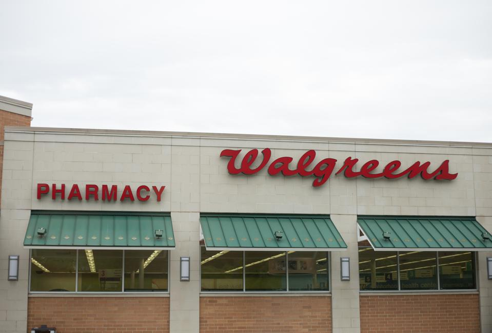 Walgreens store exterior and sign. Walgreens is the largest drug retailing chain in the United States.