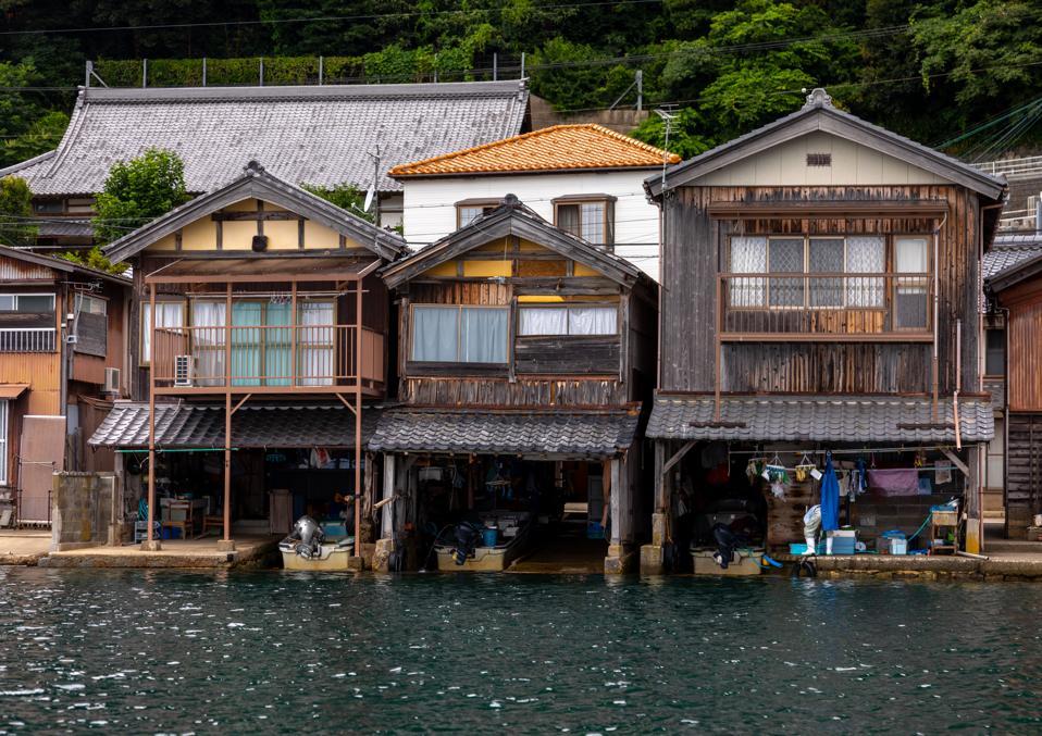 Funaya fishermen houses, Kyoto prefecture, Ine, Japan...