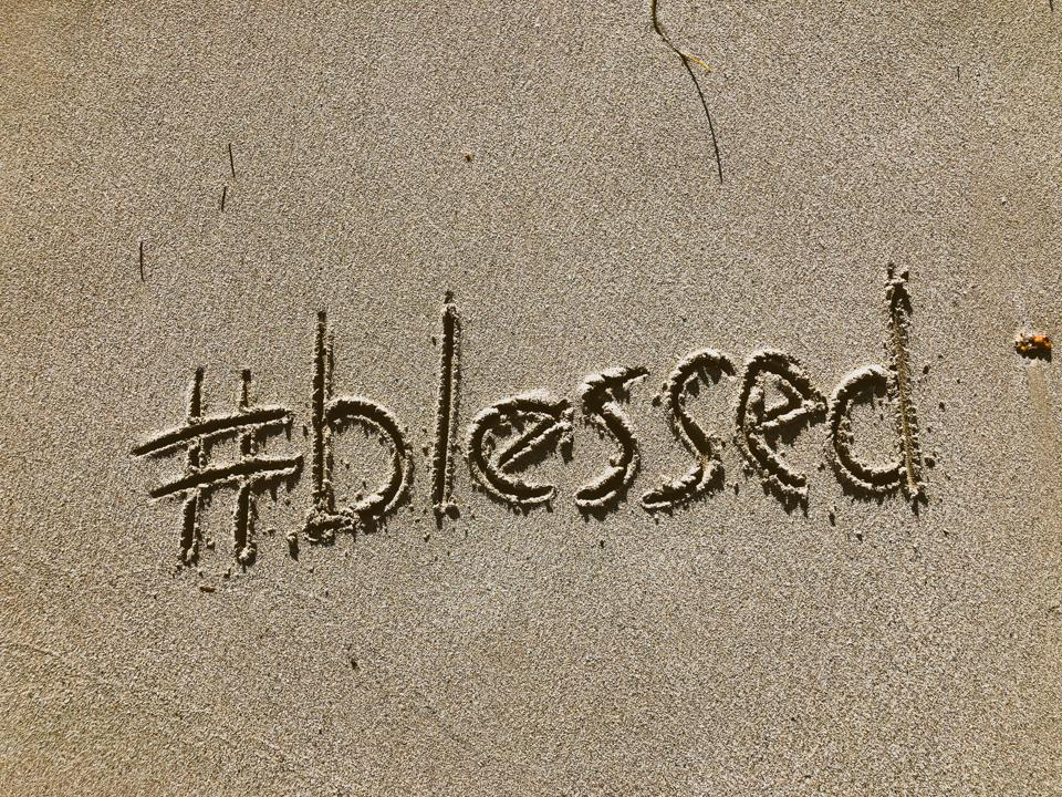 Blessed Message Written in Sand