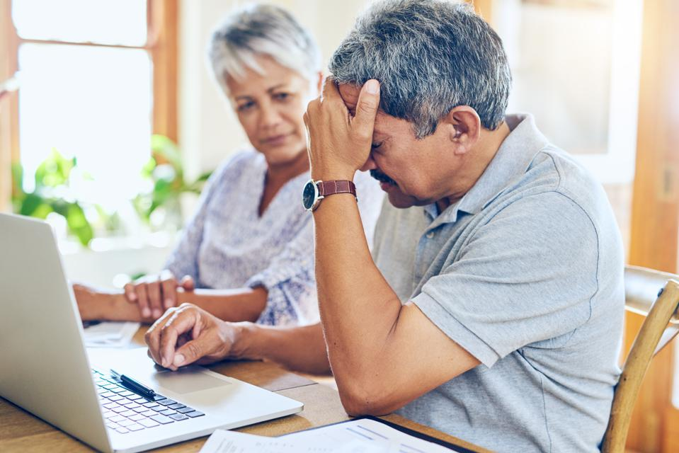 Older couple upset at computer