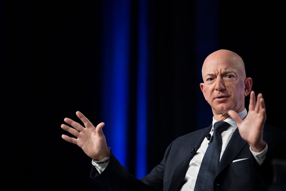 Amazon founder Jeff Bezos  (Photo by Jim WATSON / AFP)