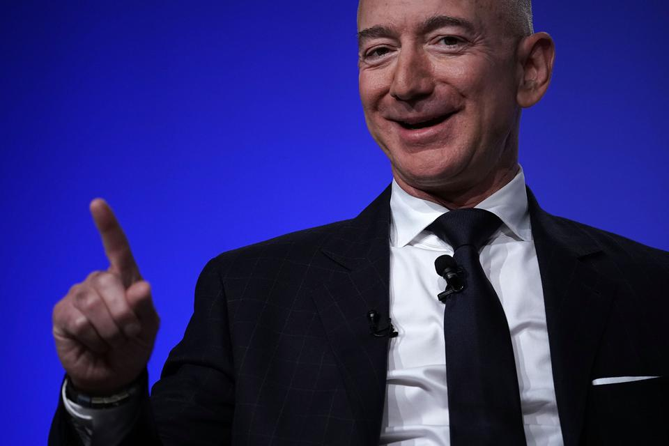 Amazon CEO And Blue Origin Founder Jeff Bezos  Speaks At the Air Force Association Air, Space And Cyber Conference.